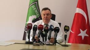 Denizlispor'da Başkan Çetin 3 yıllık bilançoyu açıkladı