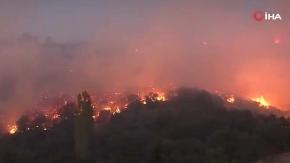 Buldan'da yerleşim yerine yaklaşan yangın nedeniyle evle boşaltıldı
