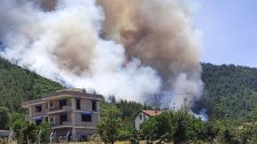 Denizli'de Göveçlik ormanlık alanda yangın