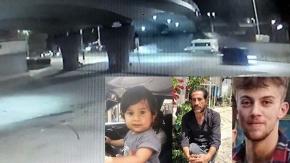 Baba oğul ve yanlarındaki gencin hayatını kaybettiği kaza anı güvenlik kamerasında