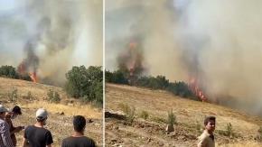 Denizli'de 2 kez kontrol altına alınan yangın  tekrar başladı
